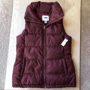 NWT Old Navy puffy quilted fleece lined vest